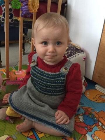 Baby stricken mit Anleitung