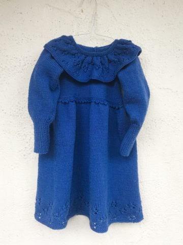 Kinderkleid stricken - VORNE