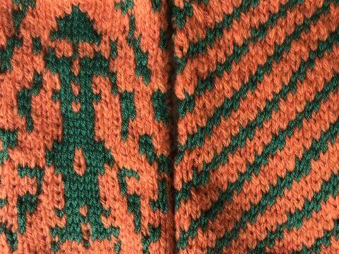 Zweifarbig stricken, Jacquardmuster