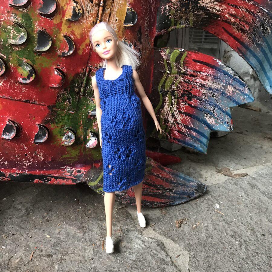 Barbie schwanger! Umstandskleid stricken