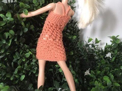 Barbie häkeln - gehäkeltes Sommerkleid für Barbie Puppe