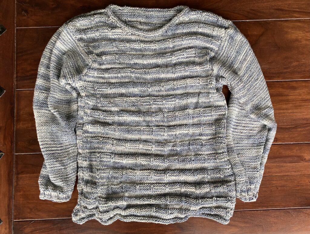 Detail Vorderteil/Ärmel , Pullover mit Farbverlauf Wolle
