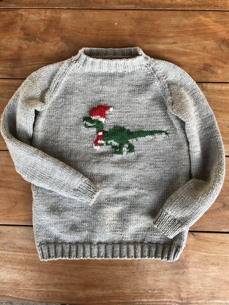 Weihnachtspullover stricken