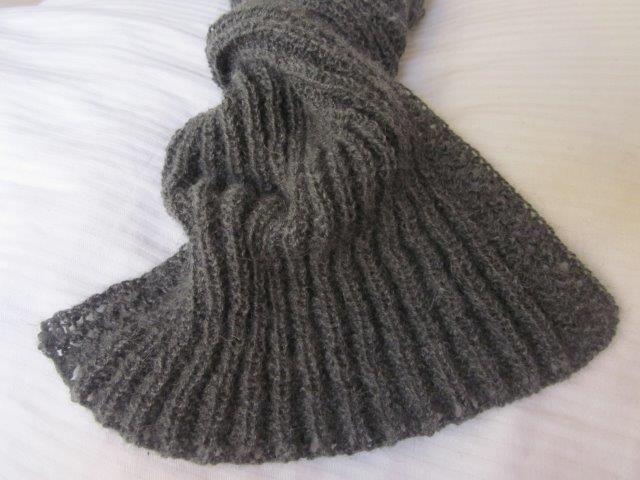 Schal stricken - kuschelweicher Schal aus edlem Material