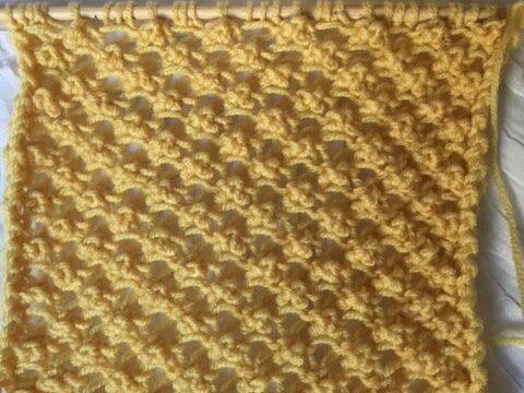 Noppenmuster stricken für Sommerpullis
