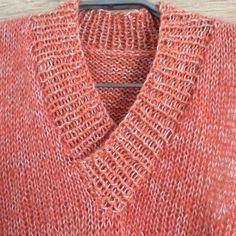 Damenpullover stricken, V-Ausschnitt