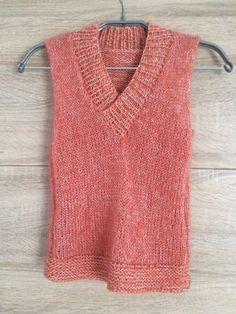 Damenpullover stricken - Vorderteil