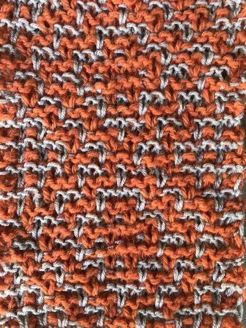 Mosaikmuster, mehrfarbig stricken