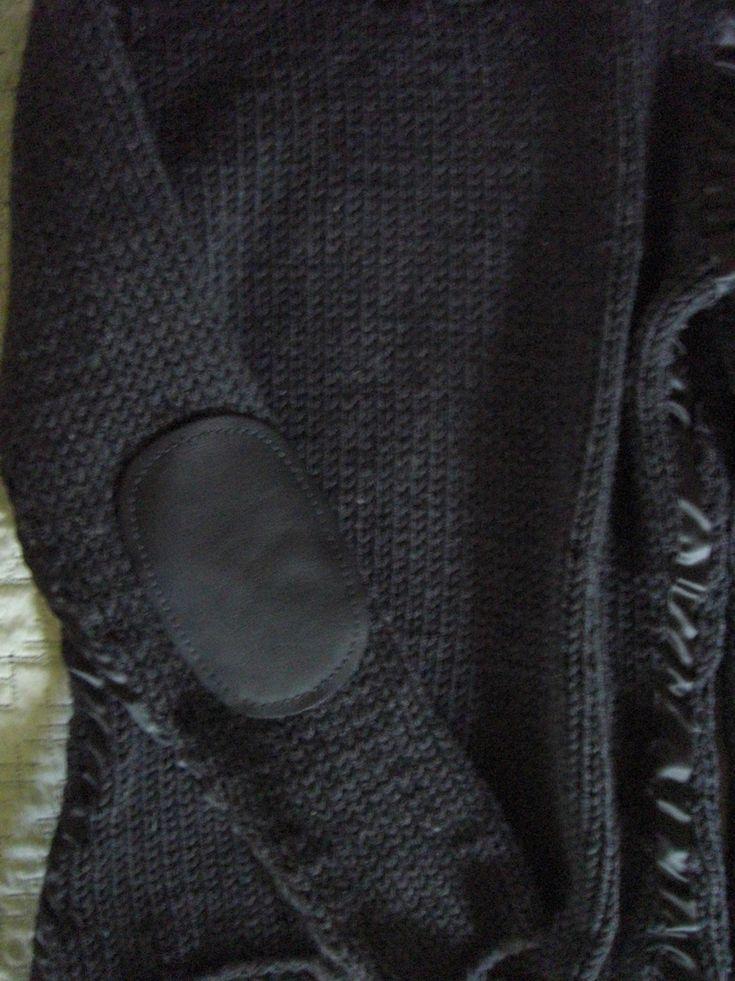 Pullover stricken mit Ellenbogen Patches
