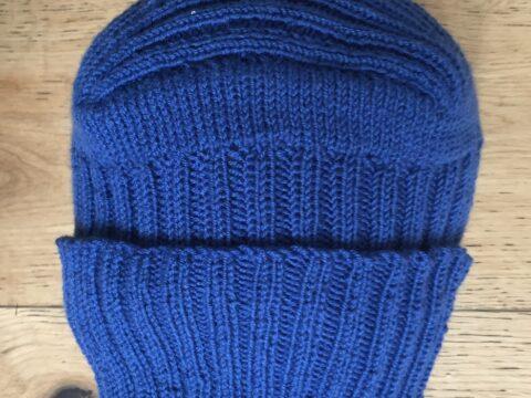 blaue Mütze unisex